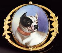 Victorian Enamel Bulldog Brooch (3 of 11)