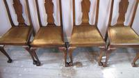 Set of four Queen Anne style mahogany dining chairs (4 of 6)
