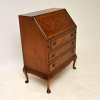 Antique Burr  Walnut Writing Bureau (6 of 9)