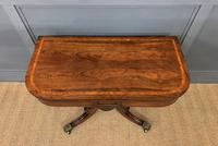 Regency Period Inlaid Rosewood Card Table (10 of 20)