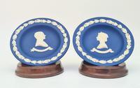 Wedgwood England Royal Blue Jasperware Silver Jubilee Dishes