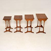 Antique Yew Wood Nest of 4 Tables (4 of 9)