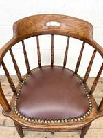Antique Desk Chair with Leather Seat (5 of 10)