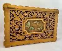 Unusual Pierced Box with Enamel Butterflies c.1920 (7 of 10)