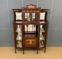 Stylish Inlaid Mahogany Art Nouveau Display Cabinet
