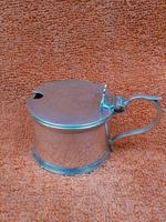 Antique Sterling Silver Hallmarked Mustard Pot & Blue Liner 1933, S Blanckensee & Son Ltd, Birmingham (8 of 10)