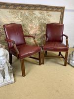Pair of Victorian Mahogany Framed Armchairs (7 of 8)