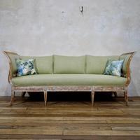 Elegant 18th Century Gustavian Dry Scraped Sofa Lindome c.1790 (2 of 14)