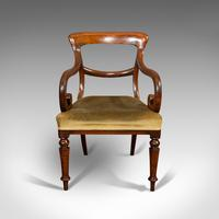 Antique Serpentine Armchair, English, Mahogany, Elbow Seat, Regency c.1820 (2 of 11)