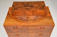 Art Deco Figured Walnut Chest of Drawers (12 of 12)