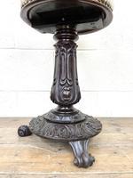 Victorian Carved Mahogany Piano Stool (6 of 9)