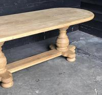 Bleached Oak Farmhouse Dining Table (2 of 12)