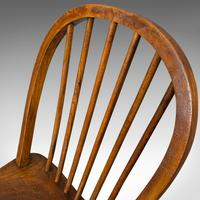 Antique Stick Back Chair, English, Elm, Beech, Station Seat, Victorian c.1870 (3 of 12)