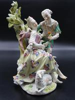 Complex Late 19th Century Meissen Group of Lovers (2 of 5)