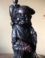 Oriental Hardwood Table Lamp c.1910 (2 of 11)