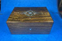 Victorian Rosewood Jewellery Box with Inlay (13 of 14)