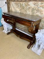 19th Century Burr Walnut Console Table (5 of 8)