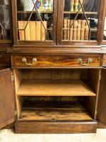 Antique 19th Century Mahogany Breakfront Bookcase (9 of 12)