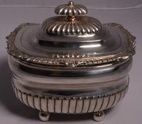 Fine George III Large Silver Tea Caddy by London Silversmiths J. W. Story & W. Elliott, 1811 (2 of 9)