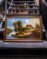 Antique Reverse Glass Painting
