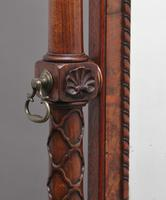 Early 20th Century Burr Walnut Cheval Mirror (8 of 13)
