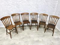 Matched Set of Six Victorian Windsor Lathback Chairs (3 of 8)