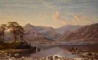 """Oil Painting by Charles Pettitt """"early Morning, Coniston Lake and Mountains, North Lancashire"""" (2 of 6)"""