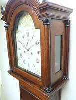 18th Century Longcase Clock Fine English Oak Ashford Grandfather Clock Painted Dial c.1757 (7 of 12)
