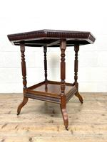 Late Victorian Walnut Octagonal Centre Table (9 of 10)