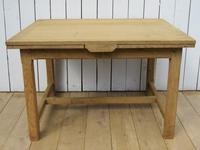 Antique Bleached Oak Extending Dining Table (10 of 10)