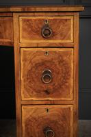 Queen Anne Style Burr Walnut Concave Writing Desk (7 of 18)