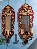 Pair of Venetian Mirrors with Applique, 1880 (6 of 9)