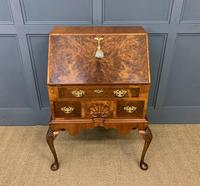 Very Good Queen Anne Style Burr Walnut Bureau (2 of 18)