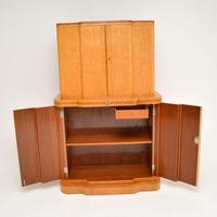 Art Deco 1920's Burr Maple & Walnut Cocktail Cabinet (9 of 13)