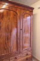 Antique Victorian Mahogany Triple Door Wardrobe (9 of 21)