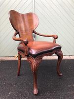 Quality Walnut & Leather Desk Chair