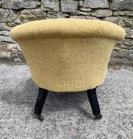 Small Antique Victorian Upholstered Salon Chair (8 of 17)