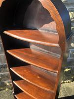 Antique Slim Oak Domed Top Open Bookcase (8 of 8)