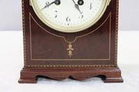 French Belle Epoque Mahogany Mantel Clock - 1900 (4 of 8)