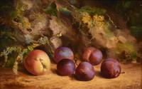 """Oil Painting by William Hughes """"Victoria Plums"""" (2 of 5)"""
