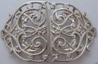Rare Victorian 1900 Hallmarked Solid Silver Nurses Belt Buckle Elkington & Co (3 of 7)