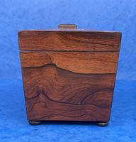 William IV Rosewood Twin Section Tea Caddy with Inlay (4 of 11)