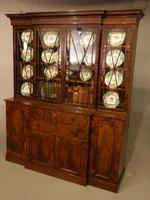 Early 20th Century Mahogany Breakfront Bookcase of the Finest Quality (7 of 7)