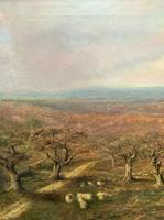 Large Superb Original 19thc West Sussex 'Tilgate Forest' Landscape Oil Painting (4 of 12)