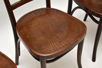 Set of 4 Antique Bentwood Cafe Dining Chairs (8 of 12)