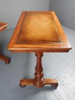 Pair of Victorian Satin Birch Library Tables (6 of 14)
