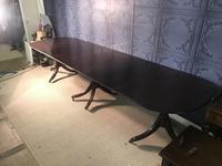 Mahogany Triple Pedestal Dining Table (4 of 10)