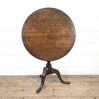 Early 19th Century Antique Oak Pillar Table