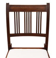 Pair of Georgian mahogany dining side hall bedroom chairs (6 of 7)