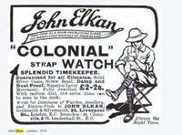 Gents 9ct Gold Colonial Wrist Watch, John Elkan (7 of 7)